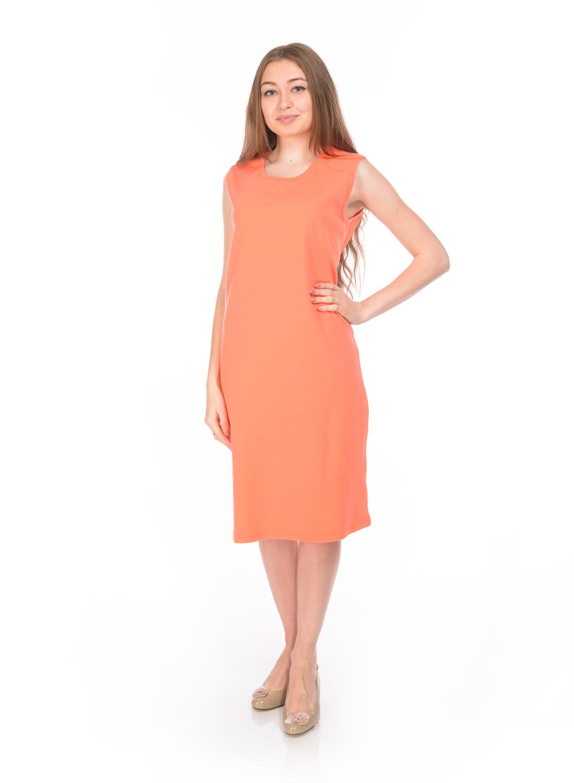 ПлатьеRAV02-007Стильное трикотажное платье RAV изготовлено из эластичного хлопка. Модель-миди с круглым вырезом горловины и без рукавов выполнено в лаконичном дизайне.