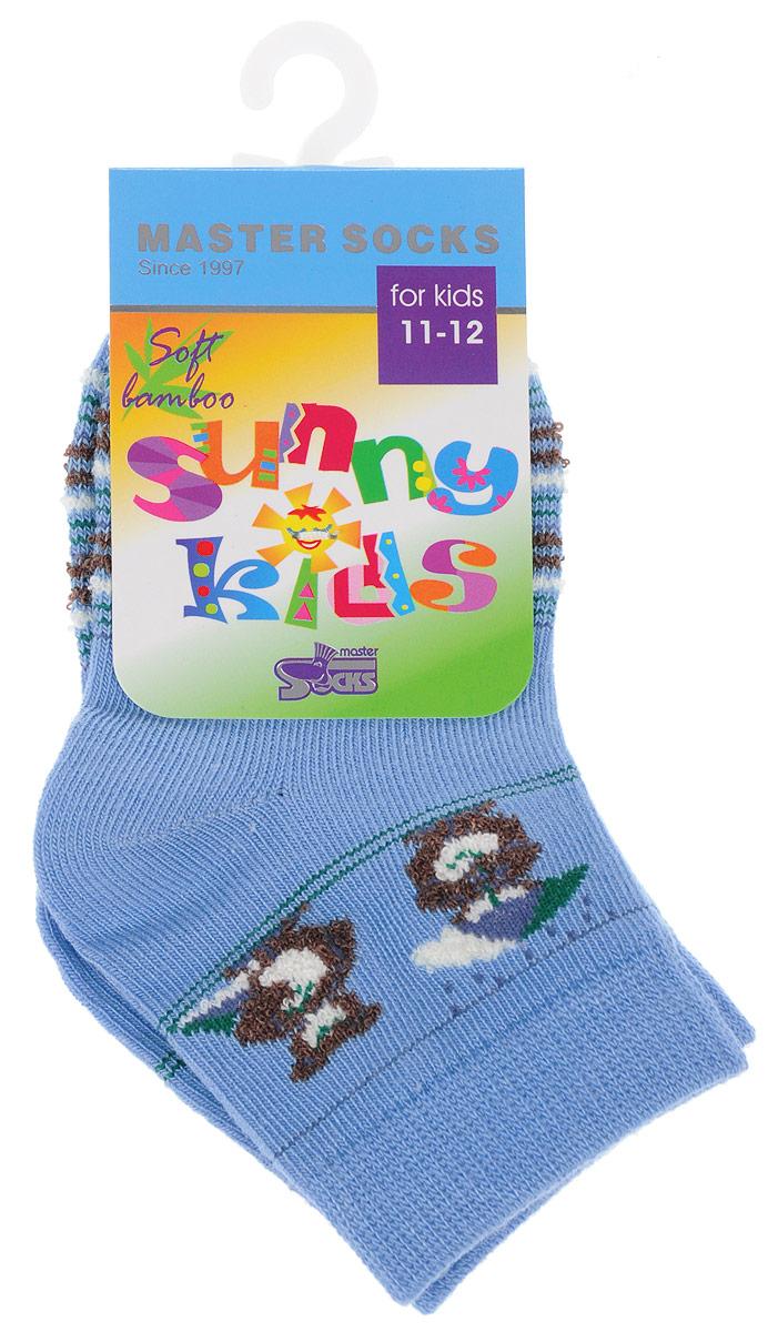 Носки82605Комфортные и прочные носки Master Socks Sunny Kids выполнены из бамбука и эластичного хлопка с добавлением полиамида. Материал изделия очень мягкий и приятный на ощупь, хорошо тянется, не деформируясь. Эластичная резинка мягко облегает ножку ребенка, обеспечивая удобство и комфорт. Модель оформлена принтом в полоску, украшена объемным изображением медвежат, связанным из пряжи с петельками. Такие носочки станут отличным дополнением к детскому гардеробу! Уважаемые клиенты! Размер, доступный для заказа, является длиной стопы.