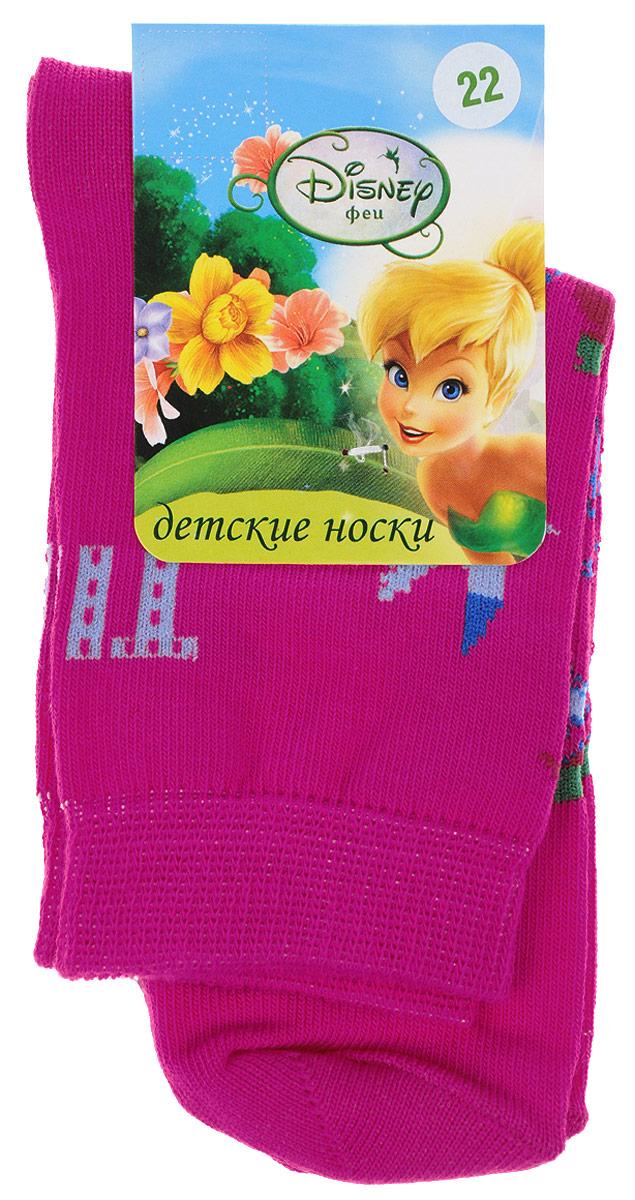 Носки12600Детские носки Master Socks Disney Феи выполнены из эластичного хлопка с добавлением полиамида. Материал изделия тактильно приятный, хорошо тянется, не деформируясь. Эластичная резинка мягко облегает ножку ребенка, обеспечивая удобство и комфорт. Модель оформлена узкими разноцветными полосками, украшена изображением феи с птичками и бабочками. Такие носочки станут отличным дополнением к гардеробу маленькой поклонницы мультфильма студии Disney! Уважаемые клиенты! Размер, доступный для заказа, является длиной стопы.