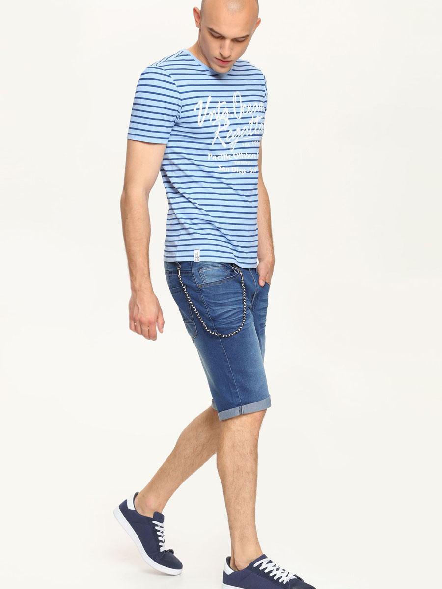 Шорты мужские Top Secret, цвет: синий джинс. SSZ0722NI. Размер 33 (48/50)SSZ0722NIСтильные мужские шорты Top Secret выполнены из хлопка с добавлением полиэстера и эластана. Модель из джинсовой ткани стандартной посадки на поясе застегивается на металлическую пуговицу и имеет ширинку на застежке-молнии, а также шлевки для ремня. Спереди расположены два втачных кармана и один маленький, а сзади - два накладных кармана. Оформлены шортыдекоративным шнурком на металлическом крючке и складками.