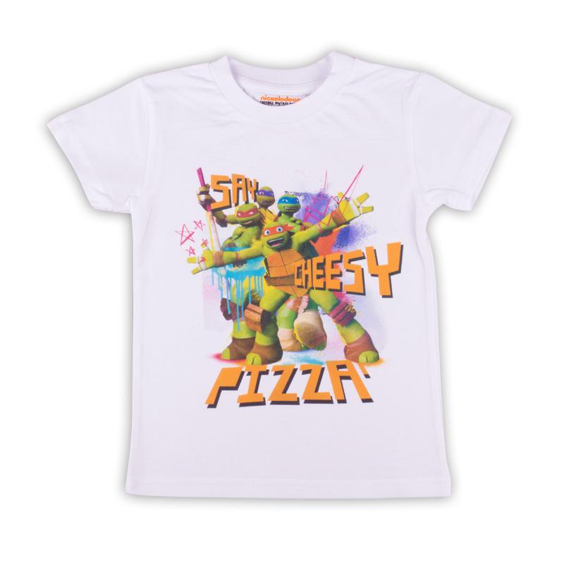 ФутболкаZВ 02280-W1Удобная и комфортная в носке футболка с коротким рукавом с изображением мультипликационных героев Черепашек Ниндзя станет отличным дополнением к повседневному гардеробу мальчика.