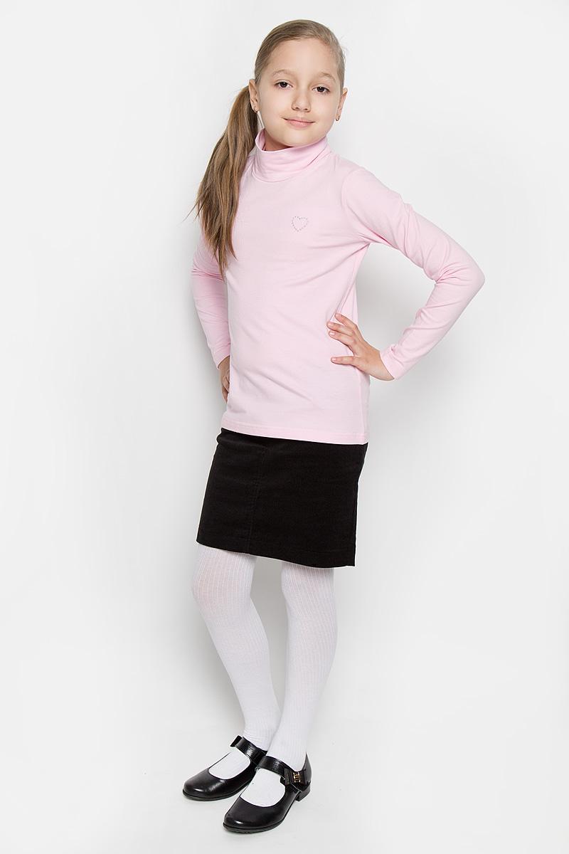 Водолазка364063Водолазка для девочки Scool идеально дополнит образ юной модницы. Модель выполнена из эластичного хлопка, мягкая и приятная на ощупь. Водолазка не сковывает движения и позволяет коже дышать, не раздражает нежную и чувствительную кожу ребенка, обеспечивая комфорт. Водолазка с длинными рукавами и воротником-стойкой украшена вышитым сердечком на груди. Лаконичный дизайн и высокое качество исполнения принесут удовольствие от покупки и подарят отличное настроение!