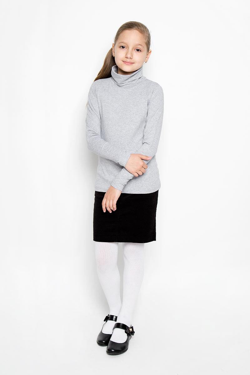 Водолазка364060Водолазка для девочки Scool идеально дополнит образ юной модницы. Модель выполнена из эластичного хлопка, мягкая и приятная на ощупь. Водолазка не сковывает движения и позволяет коже дышать, не раздражает нежную и чувствительную кожу ребенка, обеспечивая комфорт. Водолазка с длинными рукавами и воротником-гольф украшена вышитым сердечком на груди. Лаконичный дизайн и высокое качество исполнения принесут удовольствие от покупки и подарят отличное настроение!