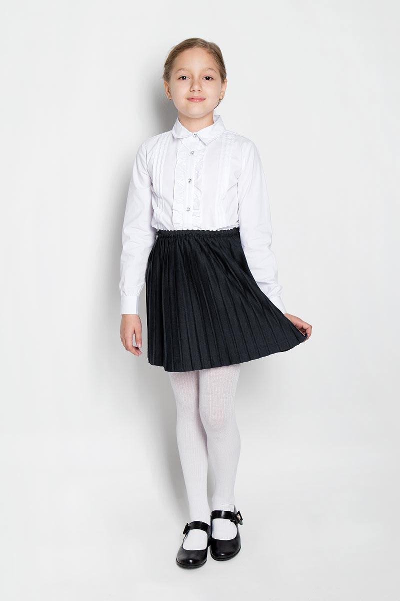 Юбка364058Стильная юбка для девочки Scool идеально подойдет для школьных будней и праздников. Изготовленная из высококачественного полиэстера, она необычайно мягкая и приятная на ощупь, не сковывает движения, обеспечивает необходимую воздухопроницаемость и не раздражает даже самую нежную и чувствительную кожу ребенка, обеспечивая ему наибольший комфорт. Юбка-гофре на талии имеет широкий эластичный пояс. Изделие дополнено непрозрачным подъюбником. В сочетании с любым верхом эта юбка выглядит строго, красиво и очень эффектно.
