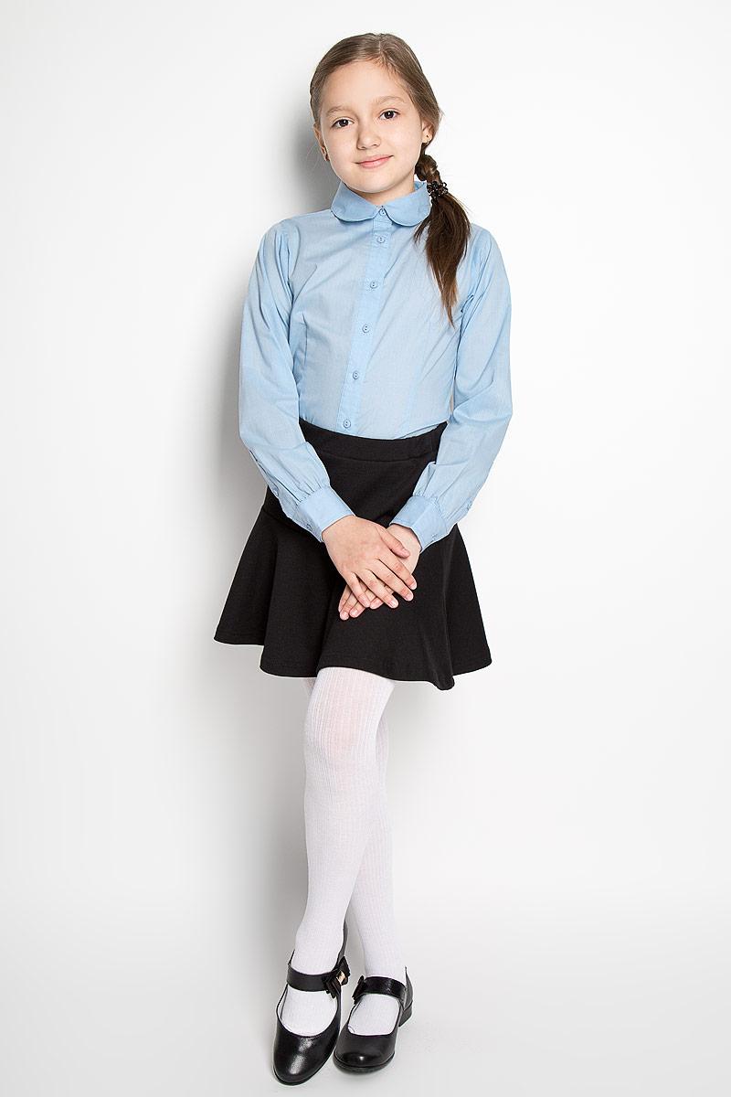 Блузка364049Классическая блузка для девочки Scool изготовлена из хлопка с добавлением полиэстера. Изделие не сковывает движения и хорошо пропускает воздух, обеспечивая наибольший комфорт. Блузка с отложным воротником и длинными рукавами застегивается на пуговицы по всей длине. На рукавах предусмотрены манжеты с застежками-пуговицами. Блузка отлично дополнит школьный образ ребенка, а лаконичный дизайн и расцветка подчеркнут индивидуальность.