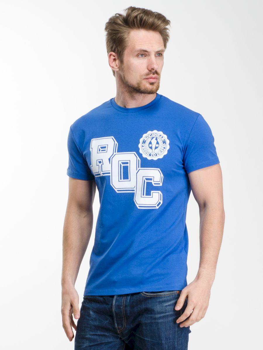 Футболка мужская Rocawear, цвет: синий. R0216Т13. Размер S (46)R0216Т13Мужская футболка Rocawear с округлым вырезом горловины и короткими рукавами изготовлена из натурального хлопка. Она необычайно мягкая и приятная на ощупь, не сковывает движения и позволяет коже дышать, не раздражает даже самую нежную и чувствительную кожу, обеспечивая наибольший комфорт.Спереди футболка декорирована контрастным принтом в виде надписи ROC, который выгодно подчеркнет яркость и оригинальность вашего образа. Модель создана для тех, кто предпочитает комфорт, свободу в движении и практичность.