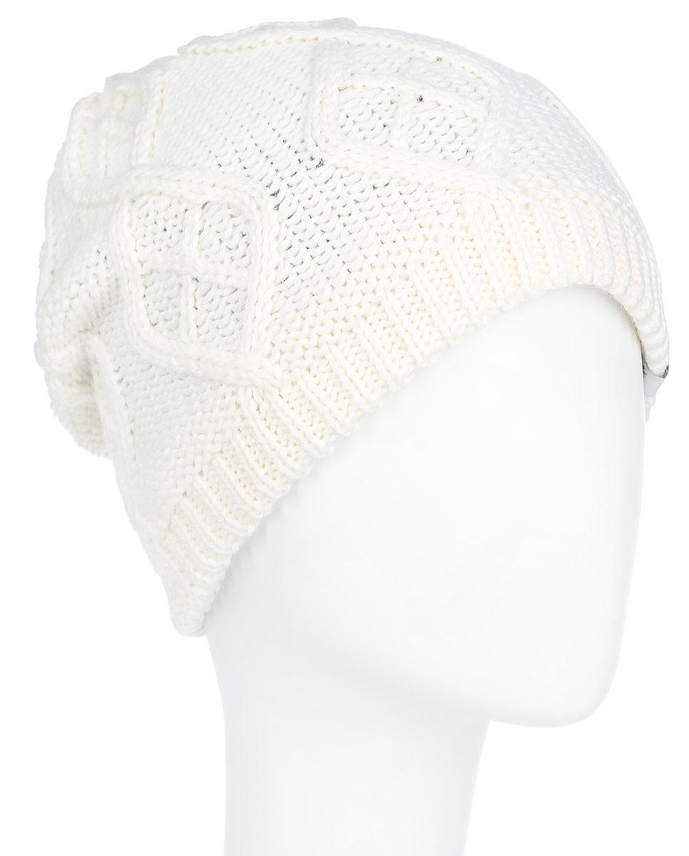 Шапка1902951-1033Стильная вязаная женская шапка Jack Wolfskin идеально подойдет для прогулок в холодное время года. Изготовленная из мягкой полушерстяной пряжи, она обладает хорошими дышащими свойствами и отлично удерживает тепло. Шапка дополнена термоподкладкой из микрофлиса. Модель оформлена оригинальным орнаментом. Такая шапка станет модным и стильным дополнением вашего зимнего гардероба. Она поднимет вам настроение даже в самые морозные дни! Уважаемые клиенты! Размер, доступный для заказа, является обхватом головы.