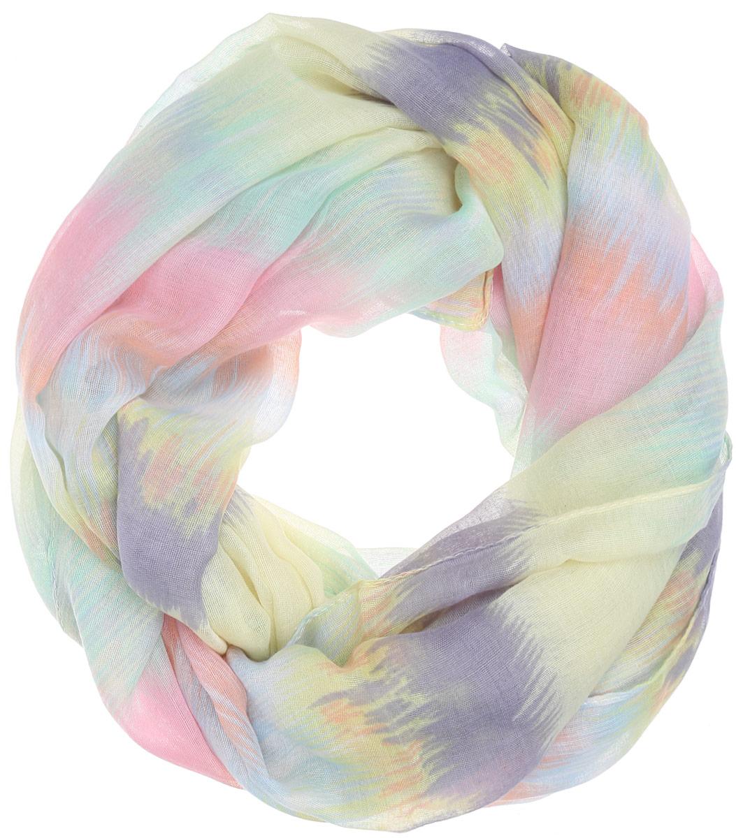 Палантин женский Labbra, цвет: желтый, серый, розовый. LDB31-621. Размер 90 см х 180 смLDB31-621Элегантный палантин Labbra станет достойным завершением вашего образа.Палантин изготовлен из вискозы. Модель оформлена оригинальным принтом в виде размытых полос. Палантин красиво драпируется, он превосходно дополнит любой наряд и подчеркнет ваш изысканный вкус.Легкий и изящный палантин привнесет в ваш образ утонченность и шарм.