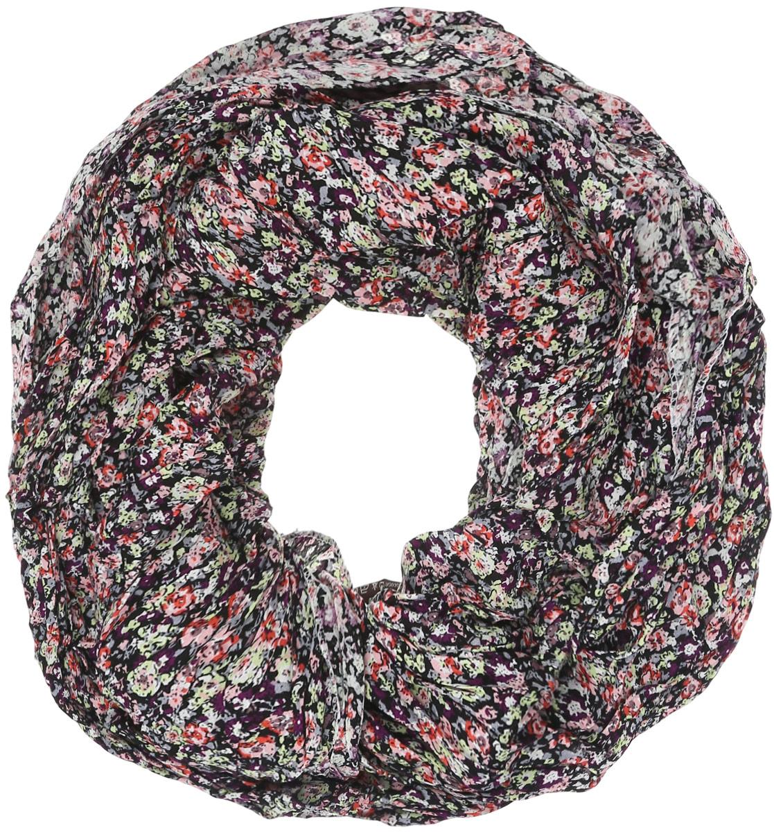 Палантин женский Labbra, цвет: черный, салатовый, фиолетовый, розовый. LG27-465. Размер 80 см х 200 смLG27-465Элегантный палантин Labbra станет достойным завершением вашего образа.Палантин изготовлен из хлопка и вискозы, материал имеет жатую поверхность. Модель оформлена стильным принтом в мелкий цветочек, края обработаны оверлоком. Палантин заужен к краям. Палантин красиво драпируется, он превосходно дополнит любой наряд и подчеркнет ваш изысканный вкус.Легкий и изящный палантин привнесет в ваш образ утонченность и шарм.