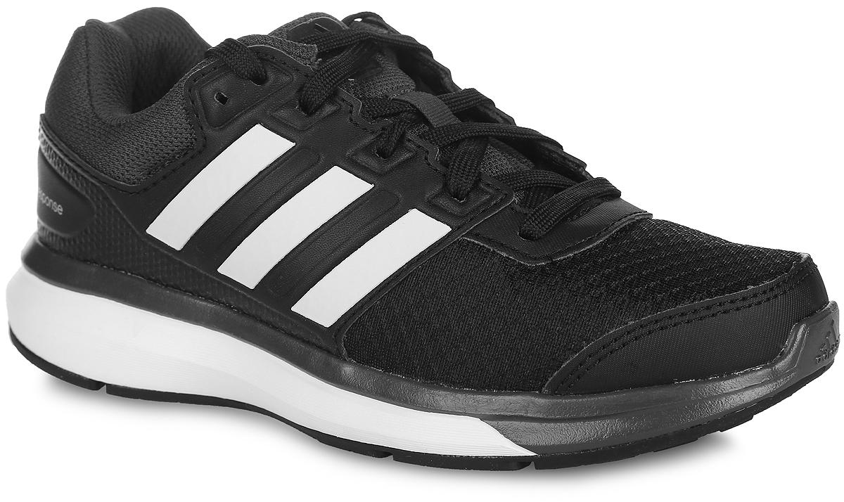 Кроссовки для бега детские adidas Performance Response K, цвет: черный. S74514. Размер 13,5 (20)S74514Детские кроссовки для бега Response K от adidas Performance выполнены из дышащего сетчатого текстиля и дополнены вставками из искусственной кожи для дополнительной поддержки. По бокам обувь оформлена тремя фирменными полосками, на язычке, заднике и мыске - логотипом бренда. Классическая шнуровка надежно зафиксирует изделие на стопе. Текстильная подкладка предотвратит натирание и гарантирует уют. Стелька OrthoLite, изготовленная из ЭВА материала с текстильной поверхностью, обеспечивает хорошую вентиляцию и защищает от образования бактерий, грибка и неприятного запаха. Технология adiPrene + создает максимальное усилие в области носка в момент отталкивания. Подошва из резины с технологией adiWear повышает срок службы и функциональность обуви. Torson System предназначена для поддержки средней части стопы. Рельефное основание подошвы гарантирует уверенное сцепление с любой поверхностью.