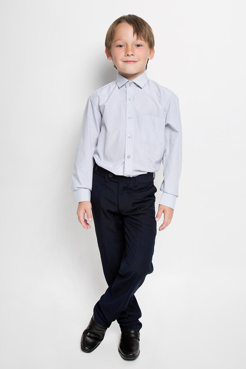 РубашкаGraf 33/37Рубашка для мальчика Imperator выполнена из хлопка с добавлением полиэстера. Она отлично сочетается как с джинсами, так и с классическими брюками. Материал изделия мягкий и приятный на ощупь, не сковывает движения и обладает высокими дышащими свойствами. Рубашка прямого кроя с длинными рукавами и отложным воротником застегивается на пуговицы по всей длине. Манжеты рукавов также имеют застежки-пуговицы. На груди расположен накладной карман. Оформлена модель принтом в клетку. Современный дизайн и высокое качество исполнения принесут удовольствие от покупки и подарят отличное настроение!