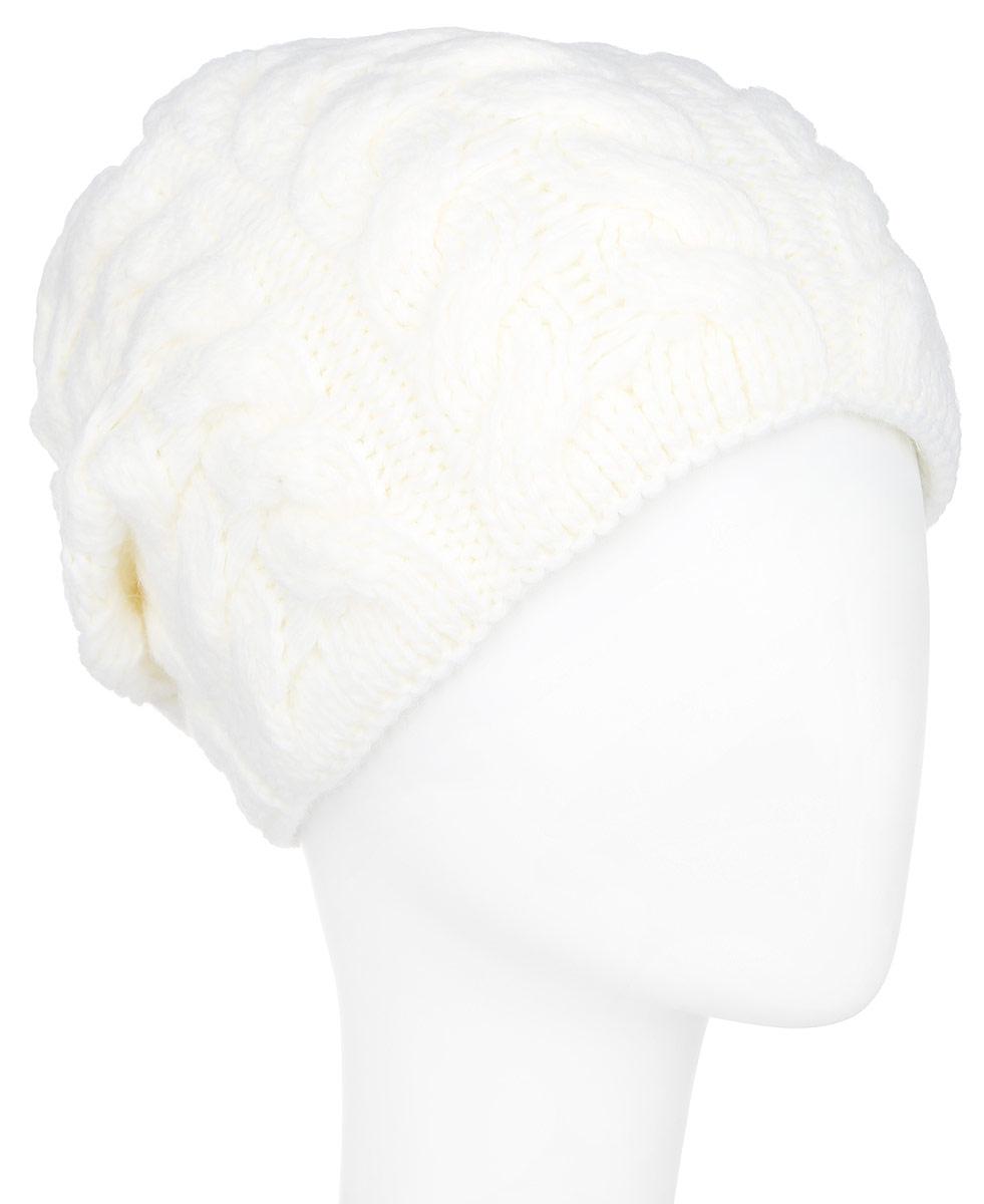 ШапкаA16-12140_202Стильная женская шапка Finn Flare дополнит ваш наряд и не позволит вам замерзнуть в холодное время года. Шапка выполнена из высококачественной пряжи, что позволяет ей великолепно сохранять тепло и обеспечивает высокую эластичность и удобство посадки. Модель оформлена оригинальным узором и металлической эмблемой с логотипом производителя. Такая шапка станет модным и стильным дополнением вашего гардероба. Она согреет вас и позволит подчеркнуть свою индивидуальность!