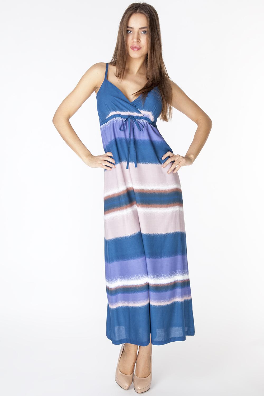 СарафанD3215Летний легкий сарафан, из тонкой вискозной ткани на подкладке. Модель отрезная под грудью, на тонких регулируемых бретелях.