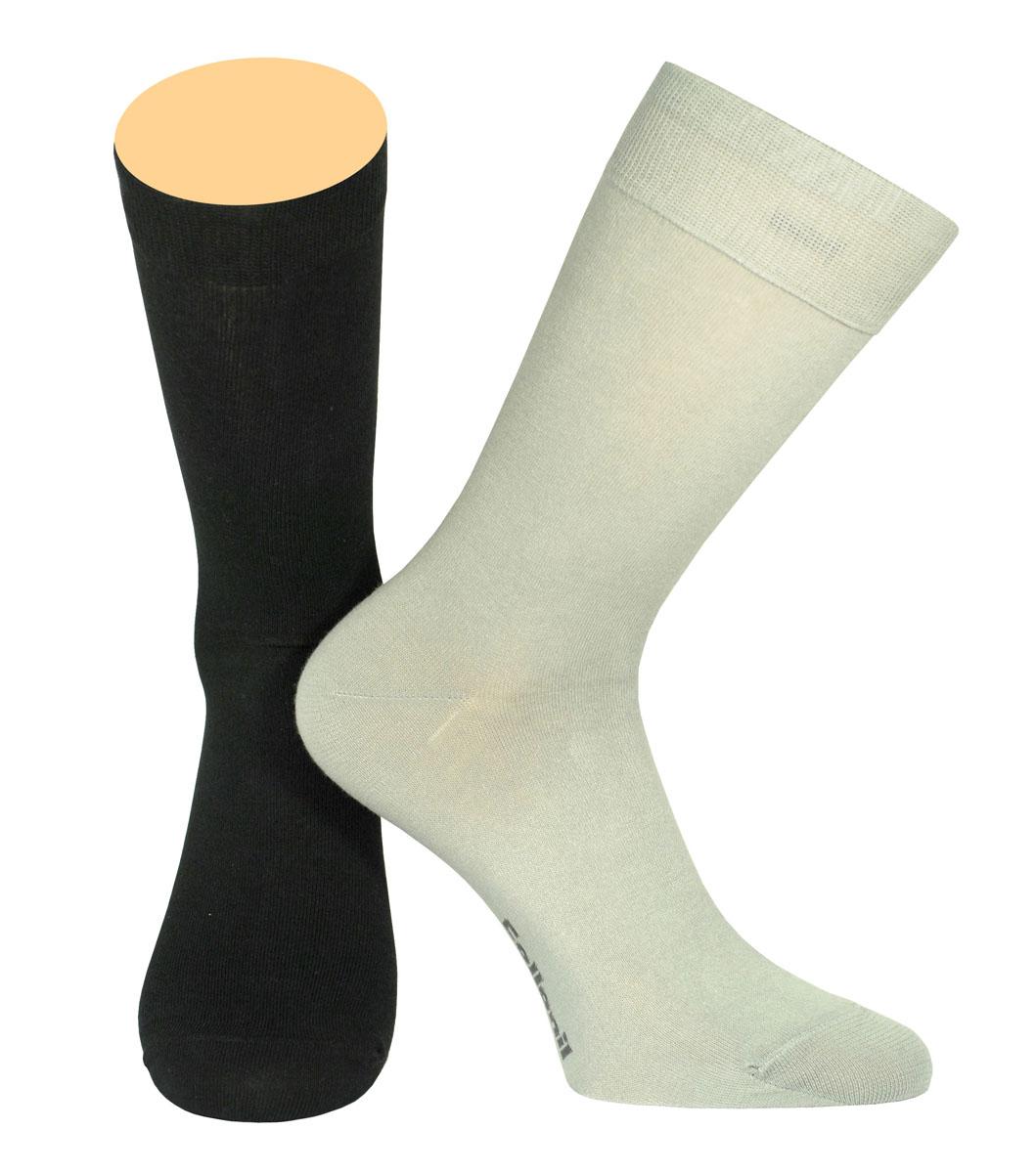 Носки мужские Collonil, цвет: черный, серый, 2 пары. CE3-40/02. Размер 43-46CE3-40/02Мужские носки Collonil изготовлены из эластичного хлопка с добавлением полиамида.Удлиненная широкая резинка не сдавливает и комфортно облегает ногу.В комплекте 2 пары.