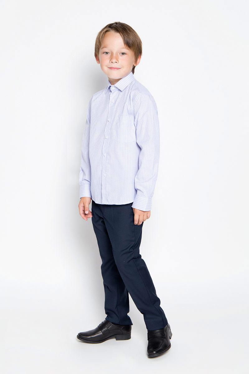 РубашкаGraf 40/37Рубашка для мальчика Imperator выполнена из хлопка с добавлением полиэстера. Она отлично сочетается как с джинсами, так и с классическими брюками. Материал изделия мягкий и приятный на ощупь, не сковывает движения и обладает высокими дышащими свойствами. Рубашка прямого кроя с длинными рукавами и отложным воротником застегивается на пуговицы по всей длине. Манжеты рукавов также имеют застежки-пуговицы. На груди предусмотрен накладной карман. Оформлена модель принтом в полоску. Такая рубашка займет достойное место в детском гардеробе, а отличное качество и дизайн принесут удовольствие от покупки!