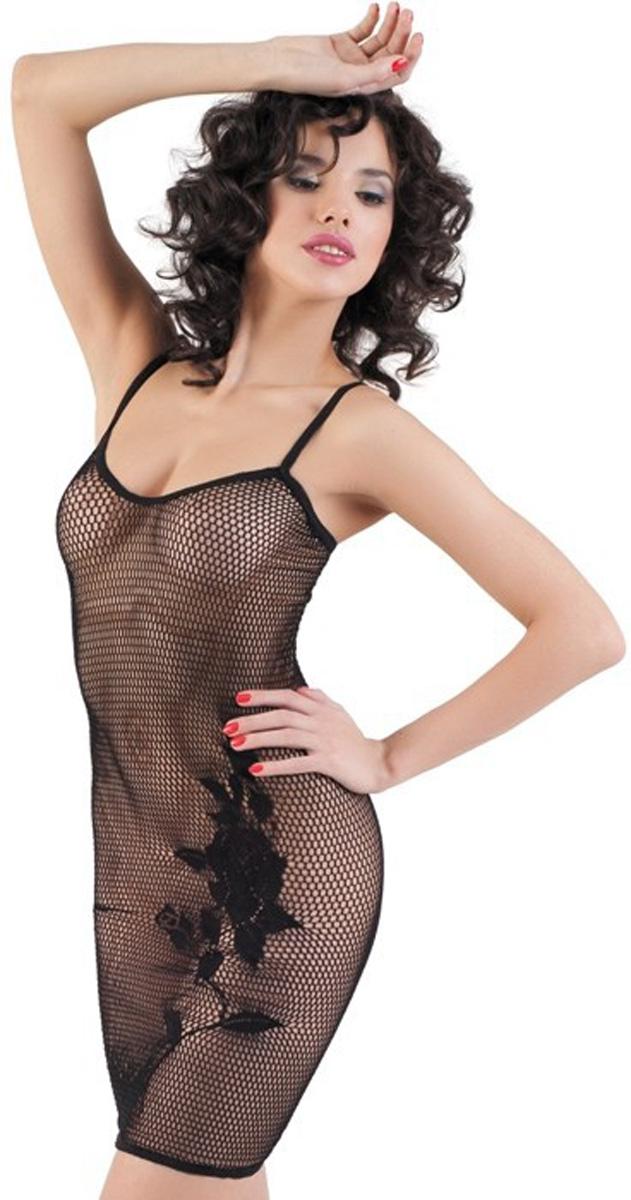 Платье гоу-гоу940006Платье гоу-гоу Erolanta Net Magic выполнено из нейлона и спандекса. Бесшовное изделие выполнено в виде сетки и оформлено узором с изображением цветов. Модель оснащена эластичными бретелями.