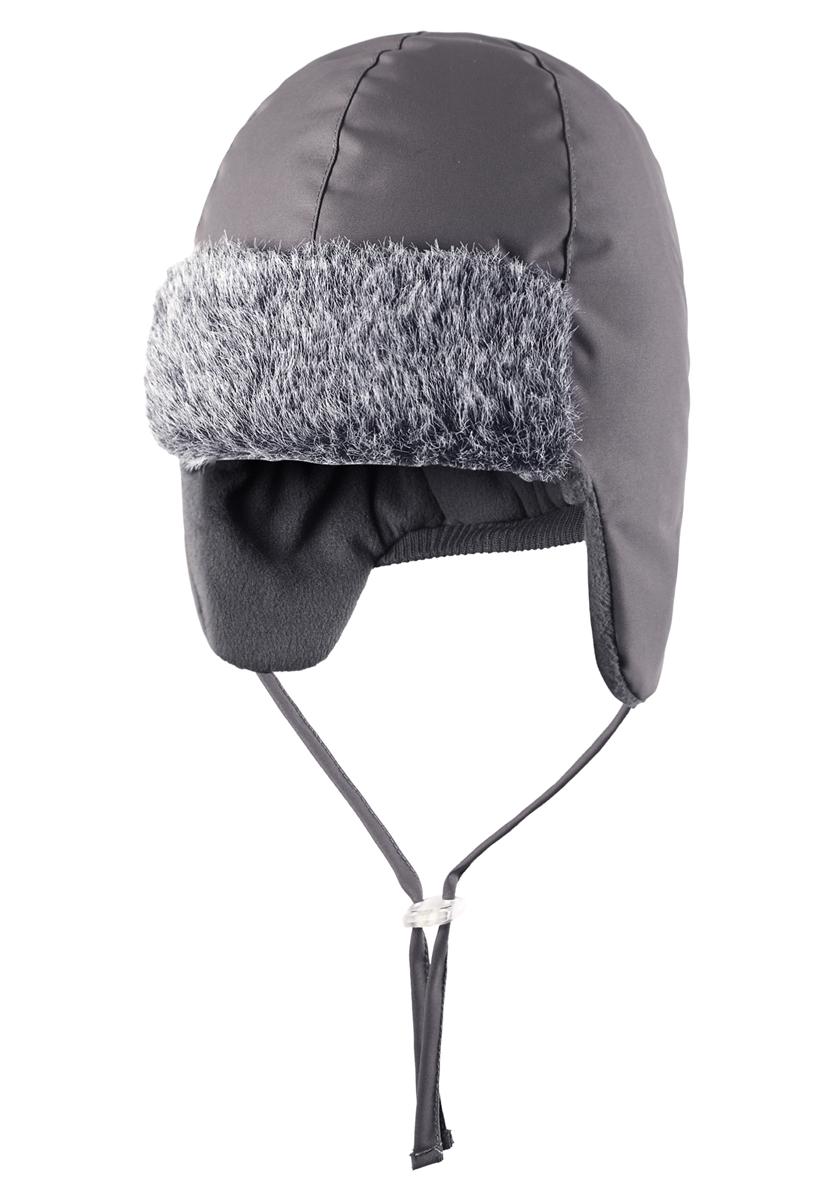 Шапка детская Lassie, цвет: серый. 718701-9720. Размер 46718701-9720Готовы к веселым зимним прогулкам? Эта очень мягкая и теплая шапка для новорожденных – превосходный аксессуар для холодных зимних деньков. Ветронепроницаемые вставки в области ушей обеспечивают ушкам дополнительную защиту, а мягкая флисовая подкладка очень приятна на ощупь.