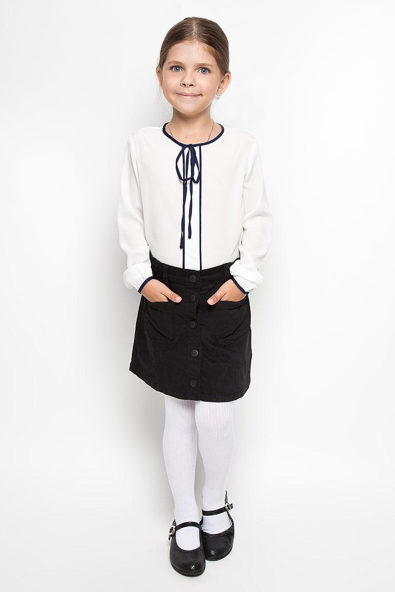 Юбка64136_OLG, вар.1Стильная юбка для девочки Orby School идеально подойдет для школы. Изготовленная из хлопка с добавлением эластана, она необычайно мягкая и приятная на ощупь, не сковывает движения и позволяет коже дышать, не раздражает даже самую нежную и чувствительную кожу ребенка, обеспечивая ему наибольший комфорт. Юбка А-силуэта, застегивается на пуговицы спереди. Пояс дополнен шлевками для ремня и имеет скрытую эластичную резинку на пуговицах, с помощью которой можно изделие подгонять по фигуре. Спереди модель оформлена двумя небольшими накладными кармашками. В сочетании с любым верхом, эта юбка выглядит строго, красиво, и очень эффектно.