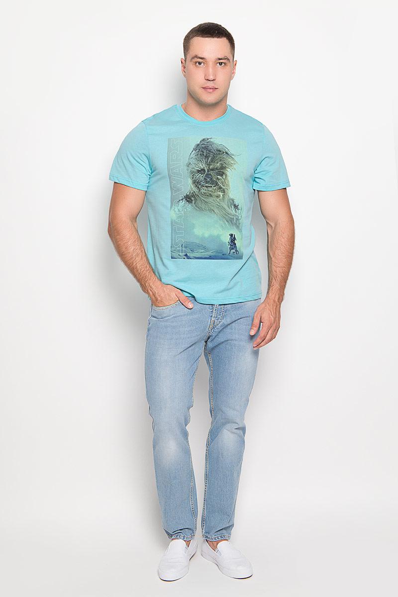 Футболка42950Оригинальная мужская футболка RHS Star Wars, выполненная из высококачественного хлопка, обладает высокой теплопроводностью, воздухопроницаемостью и гигроскопичностью, позволяет коже дышать. Модель с короткими рукавами и круглым вырезом горловины, оформлена принтом спереди на тему культовой фантастической саги Звездные войны. Горловина дополнена эластичной трикотажной резинкой. Идеальный вариант для тех, кто ценит комфорт и качество.