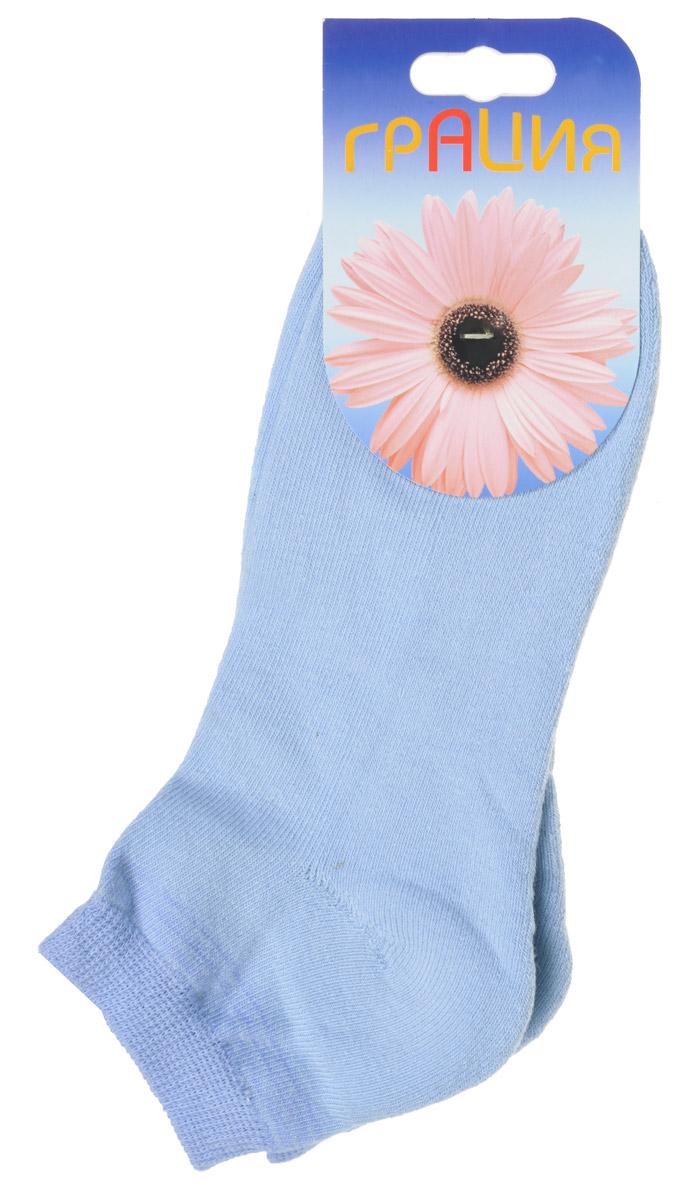 Носки женские Грация, цвет: голубой, сине-голубой. H 050. Размер 2 (38/40)H 050Теплые женские носки Грация, изготовленные из высококачественного комбинированного материала, очень мягкие и приятные на ощупь, позволяют коже дышать. Эластичная резинка плотно облегает ногу, не сдавливая ее, обеспечивая комфорт и удобство. Внутренняя часть стопы махровая. Носки с укороченным паголенком, который оформлен нежным принтом в полоску.Удобные и комфортные носки великолепно подойдут к любой вашей обуви.