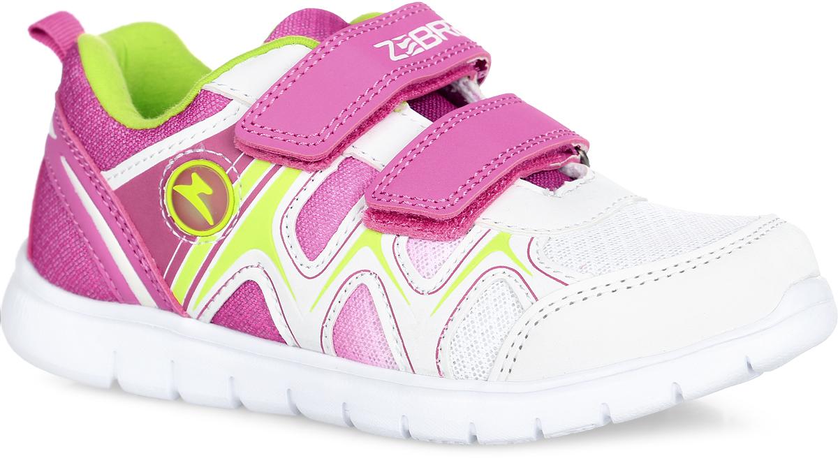 Кроссовки10154-4Стильные кроссовки от Зебра придутся по душе вашей маленькой моднице. Модель выполнена из качественного текстиля со вставками из искусственной кожи. На верхнем ремешке - надпись с названием бренда. Ремешки на застежках-липучках, пропущенные через шлевки на подъеме, надежно зафиксируют ногу. Инновационная стелька способствует правильному формированию скелета и анатомических сводов детской стопы, а также обеспечит комфорт при ходьбе. Подошва имеет высокую естественную способность к сцеплению с любой поверхностью за счет особой формы и рельефа. Такие кроссовки займут достойное место среди коллекции обуви вашей девочки.