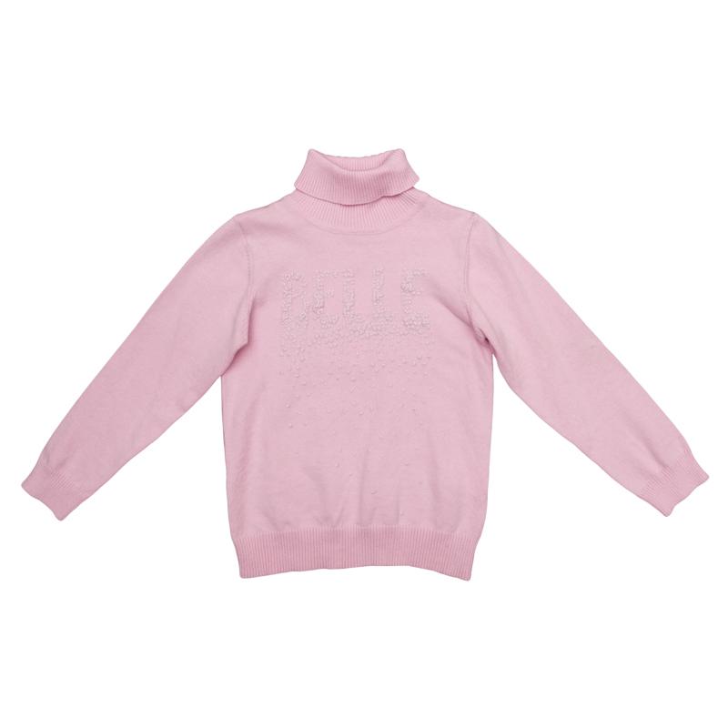 Свитер для девочки PlayToday, цвет: розовый. 362056. Размер 104362056Уютный джемпер для девочки выполнен из трикотажа мелкой вязки с высоким воротником, надежно защищающим от ветра.Модель оформлена аппликацией из жемчужных страз с эффектом 3D. Воротник, рукава и низ изделия выполнены из широкой вязаной резинки.