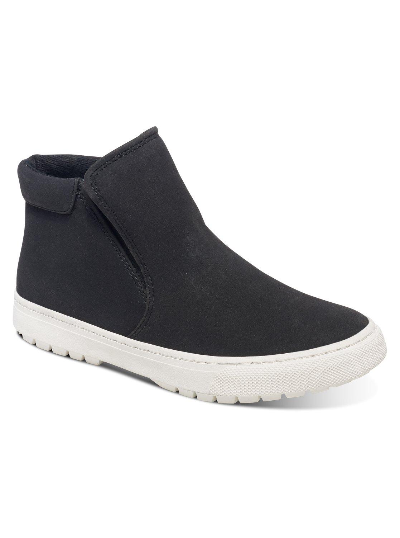 БотинкиARJS300254-BLKЖенские ботинки Juno от Roxy выполнены из веганской замши. Стелька изготовлена из пенного запоминающего полимера с графическим принтом. Эластичная вулканизированная подошва.