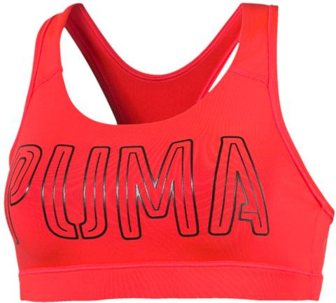 Топ-бра для фитнеса Puma Pwrshape Forever, цвет: красный. 51396517. Размер S (44)513965_17Этот спортивный бюстгальтер-топ станет вашей любимой моделью, потому что он - незаменимая часть вашего гардероба для занятий спортом и активного отдыха! Отличный дизайн обеспечивает универсальность, поэтому бюстгальтер можно надевать в тренажерный зал, на занятие всеми видами фитнеса, на пробежку. Дополнительные удобства создаются за счет использования высокофункциональной технологии dryCELL, которая отводит влагу, поддерживает тело сухим и гарантирует комфорт во время активных тренировок и занятий спортом. Наплечные лямки с мягкой подложкой, не перекрещивающиеся на спине, не натирают, не давят, а также обеспечивают полную свободу движений и удобство надевания изделия благодаря функциональному крою спины. Отделка низа сверхэластичным плотным материалом создает дополнительную поддержку. Бюстгальтер декорирован спереди логотипом PUMA из светоотражающего материала, нанесенным методом термопечати, благодаря которому вас лучше видно в темное время суток. На нижний край изделия методом термопечати нанесен логотип dryCELL. Модель подходит для всех видов физической активности.