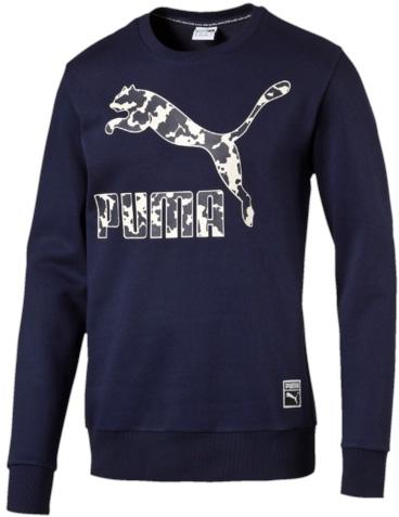 Свитшот мужской Puma Archive Logo Crew Fl, цвет: синий. 57151637. Размер XXL (54)571516_37Свитшот Puma Archive Logo Crew FL выполнен из трикотажа с внутренней мягкой отделкой. Изделие декорировано набивным логотипом. Ворот и манжеты отделаны трикотажем в рубчик. Модель также снабжена тканым логотипом соответствующей обувной линейки Puma. Фасон в обтяжку по фигуре.