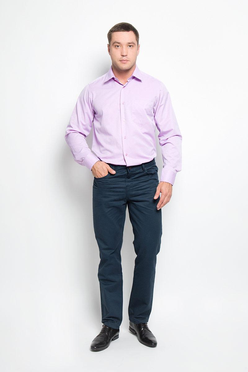 Рубашка12.014878Мужская рубашка BTC, выполненная из высококачественного материала, станет замечательным дополнением к вашему гардеробу. Изделие мягкое, тактильно приятное, не сковывает движений и хорошо пропускает воздух, обеспечивая комфорт при носке. Модель прямого кроя с отложным воротником и длинными рукавами застегивается спереди на пуговицы по всей длине. Манжеты дополнены застежками-пуговицами. На груди расположен накладной карман. Такая рубашка подчеркнет ваш вкус и поможет создать стильный образ!