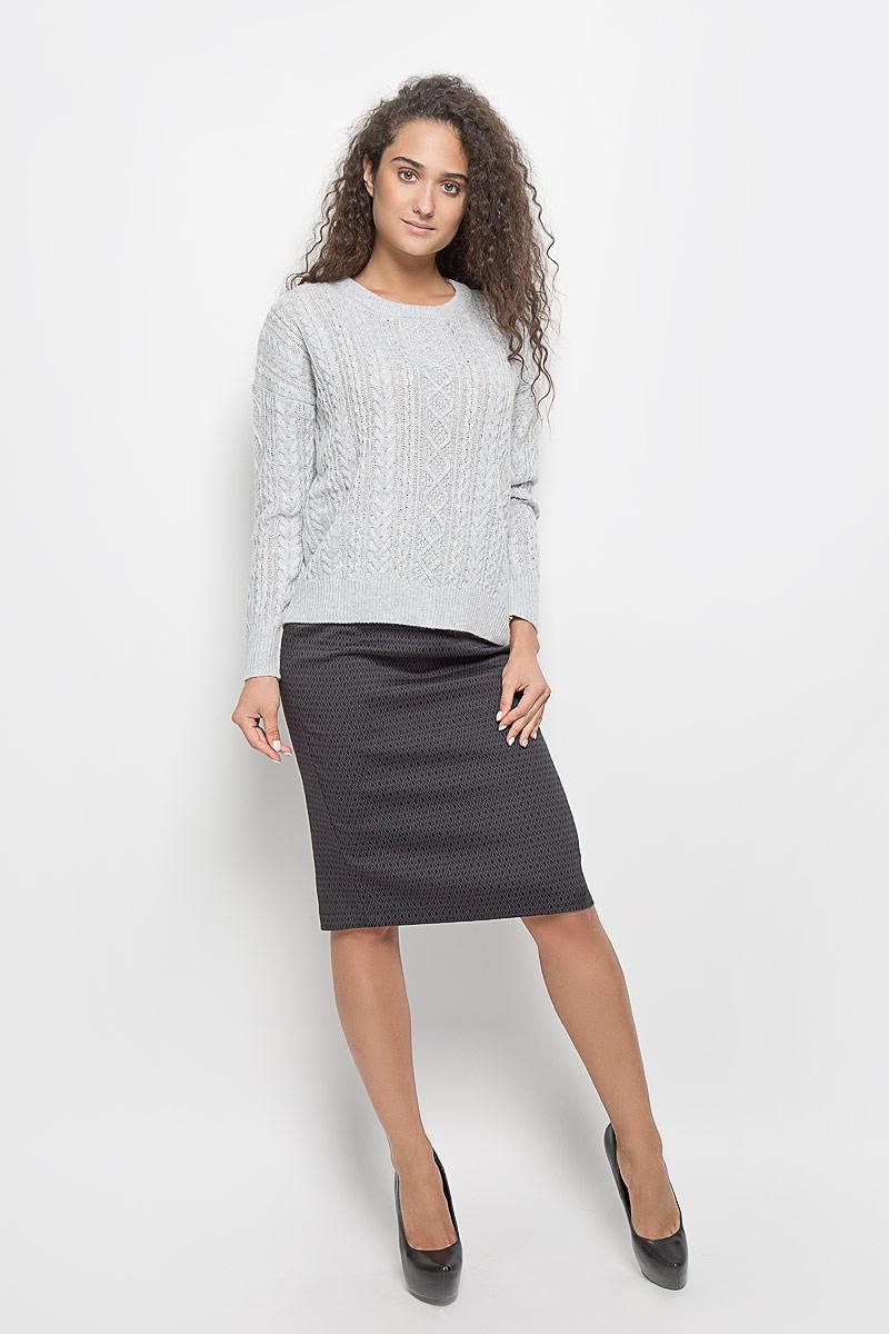 ЮбкаB476528_Black-Asphalt JacquardЭффектная юбка Baon выполнена из эластичного полиэстера с добавлением вискозы, она обеспечит вам комфорт и удобство при носке. Элегантная юбка-карандаш средней длины застегивается на застежку-молнию сзади. Модель оформлена узором в виде ромбов. Модная юбка-карандаш выгодно освежит и разнообразит ваш гардероб. Создайте женственный образ и подчеркните свою яркую индивидуальность! Классический фасон и оригинальное оформление этой юбки сделают ваш образ непревзойденным.