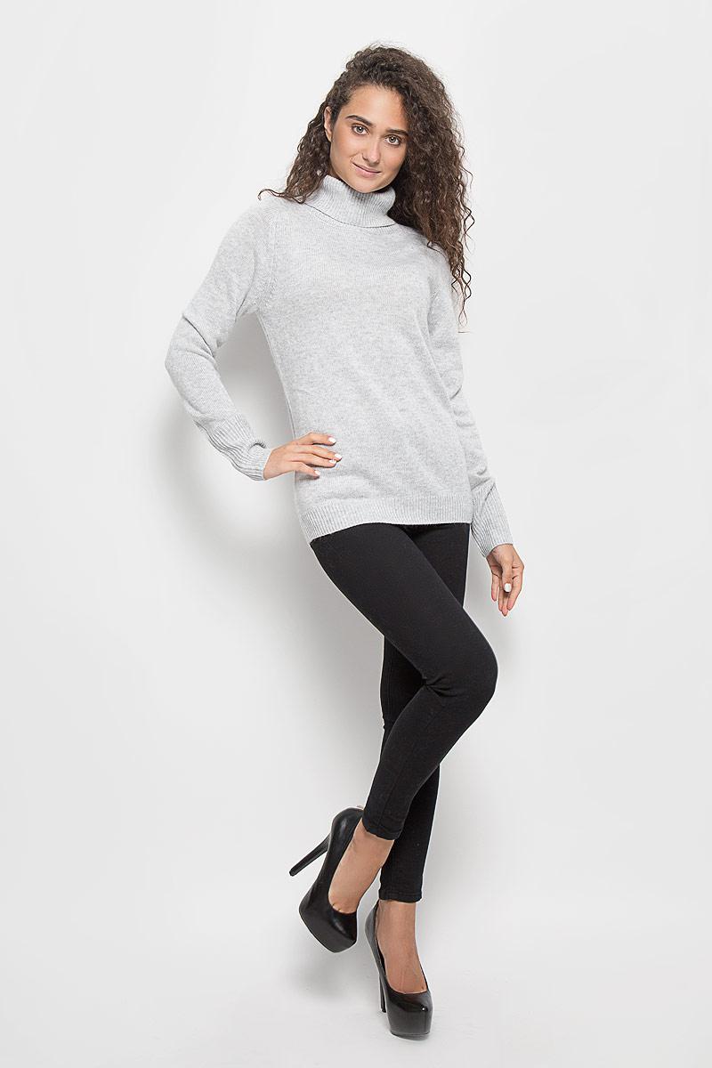 Свитер женский Baon, цвет: серый меланж. B136578. Размер XL (50)B136578_Silver MelangeОригинальный женский свитер Baon, изготовленный из высококачественной пряжи, мягкий и приятный на ощупь, не сковывает движений и обеспечивает наибольший комфорт.Модель с воротником-гольф и длинными рукавами-реглан великолепно подойдет для создания современного образа в стиле Casual. Низ изделия, манжеты и воротник связаны резинкой.Этот свитер послужит отличным дополнением к вашему гардеробу. В нем вы всегда будете чувствовать себя уютно и комфортно в прохладную погоду.