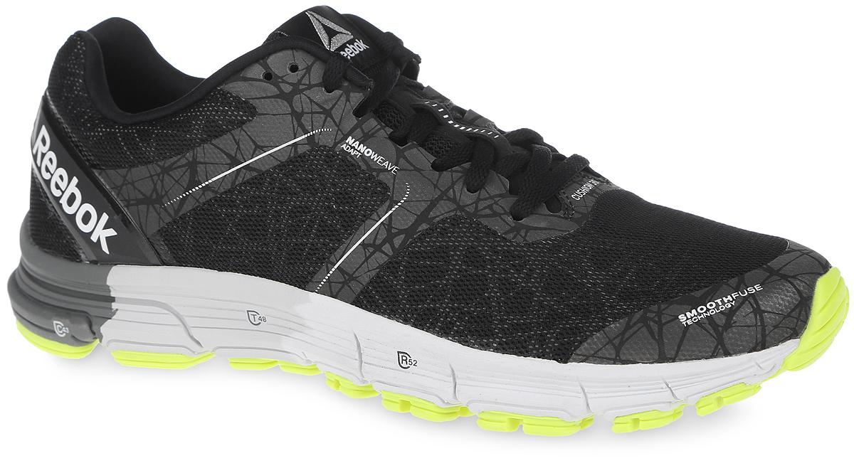Кроссовки мужские Reebok One Cushion, цвет: черный. AR2820. Размер 8,5 (41)AR2820Кроссовки для бега Reebok One Cushion - обувь для бега на длинные дистанции.Съемная анатомическая стелька. Классическая шнуровка надежно зафиксирует модель на ноге.Промежуточная подошва из ЭВА различной плотности обеспечивает оптимальную амортизацию, устойчивость и отталкивание.Подметка из резиновой смеси повышенной прочности DMPRTEK.