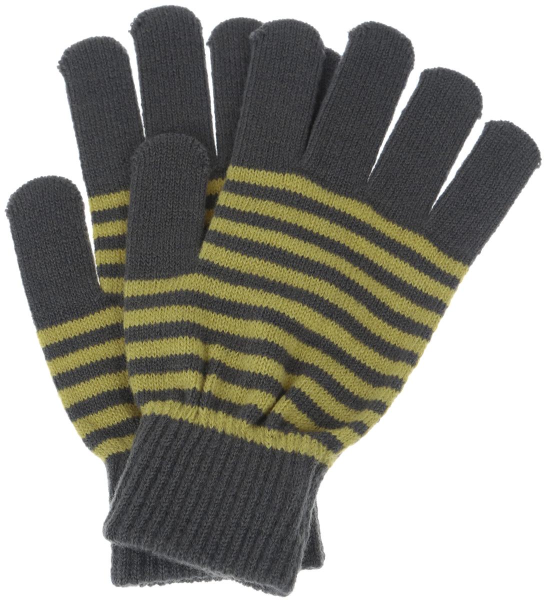 Перчатки детскиеGL-843/052-6302Вязаные перчатки для мальчика Sela идеально подойдут для прогулок в прохладное время года. Изготовленные из высококачественного материала, очень мягкие и приятные на ощупь, не раздражают нежную кожу ребенка, обеспечивая ему наибольший комфорт, хорошо сохраняют тепло. Уютные трикотажные перчатки оформлены разноцветными горизонтальными полосками. Верх модели на мягкой резинке, которая не стягивает запястья и надежно фиксирующими перчатки на руках ребенка. Современный дизайн и расцветка делают эти перчатки модным и стильным предметом детского гардероба. В них ваш ребенок будет чувствовать себя уютно и комфортно.