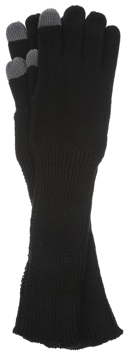 Перчатки женские Sela, цвет: черный. GL-143/020-6302. Размер 20GL-143/020-6302Вязаные женские перчатки Sela не только защитят ваши руки, но и станут великолепным украшением. Перчатки выполнены из акрила, они хорошо сохраняют тепло, мягкие, идеально сидят на руке и хорошо тянутся. Перчатки дополнены отгибающимися удлиненными манжетами. Они оформлены дырочкой, через которую можно просунуть большой палец, если закатать манжет на на ладонь. Такие перчатки будут оригинальным завершающим штрихом в создании современного модного образа, они подчеркнут ваш изысканный вкус и станут незаменимым и практичным аксессуаром.