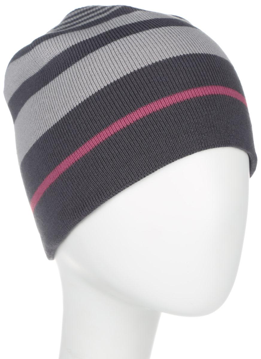 Шапка двусторонняя Jack Wolfskin Horizon Cap, цвет: серый, темно-серый, розовый. 1905191-6230. Размер 55/591905191-6230Легкая, теплая двусторонняя шапка из тонкой пряжи. Приятное тепло в неустойчивую зимнюю погоду: двусторонняя шапка HORIZON— универсальный аксессуар для любых ваших планов на природе. Материал тонкой вязки не позволяет голове терять тепло. Благодаря двум вариантам ношения с разным дизайном шапка идеально подходит к зимнему наряду.Изделие оформлено контрастным принтом и дополнено выточкой бренда.Такая шапка составит идеальный комплект с модной верхней одеждой, в ней вам будет уютно и тепло.