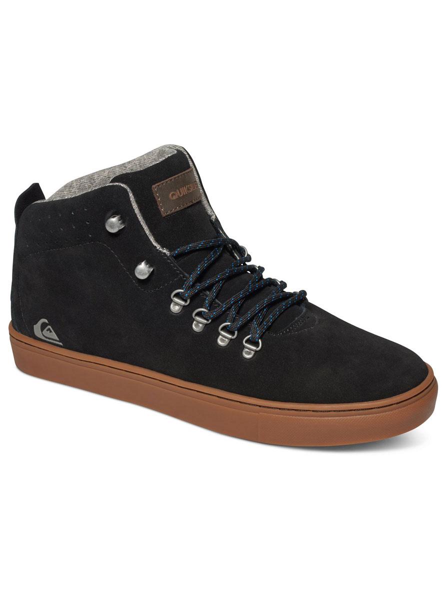 Ботинки мужские Quiksilver Jax, цвет: черный. AQYS100014-XKKC. Размер 13 (45)AQYS100014-XKKCМужские ботинки средней высоты Jax от Quiksilver выполнены из натуральной замши с водоотталкивающей пропиткой. Классическая шнуровка надежно зафиксирует модель на ноге. Удобные верхние петли позволяют быстро снимать и надевать ботинки.Многослойная стелька с функцией поддержки подъема стопы обеспечивает комфорт при движении. Гибкая конструкция подошвы Cupsole с рисунком протектора в елочку и логотипом бренда обеспечивает надежное сцепление с любой поверхностью.