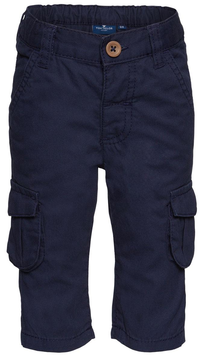 Брюки6404198.00.22_6811Детские брюки выполнены из высококачественного материала. Модель застегивается в поясе на пуговицу и ширинку на застежке-молнии. Брюки дополнены шлевками, двумя втачными карманами и четырьмя накладными карманами.