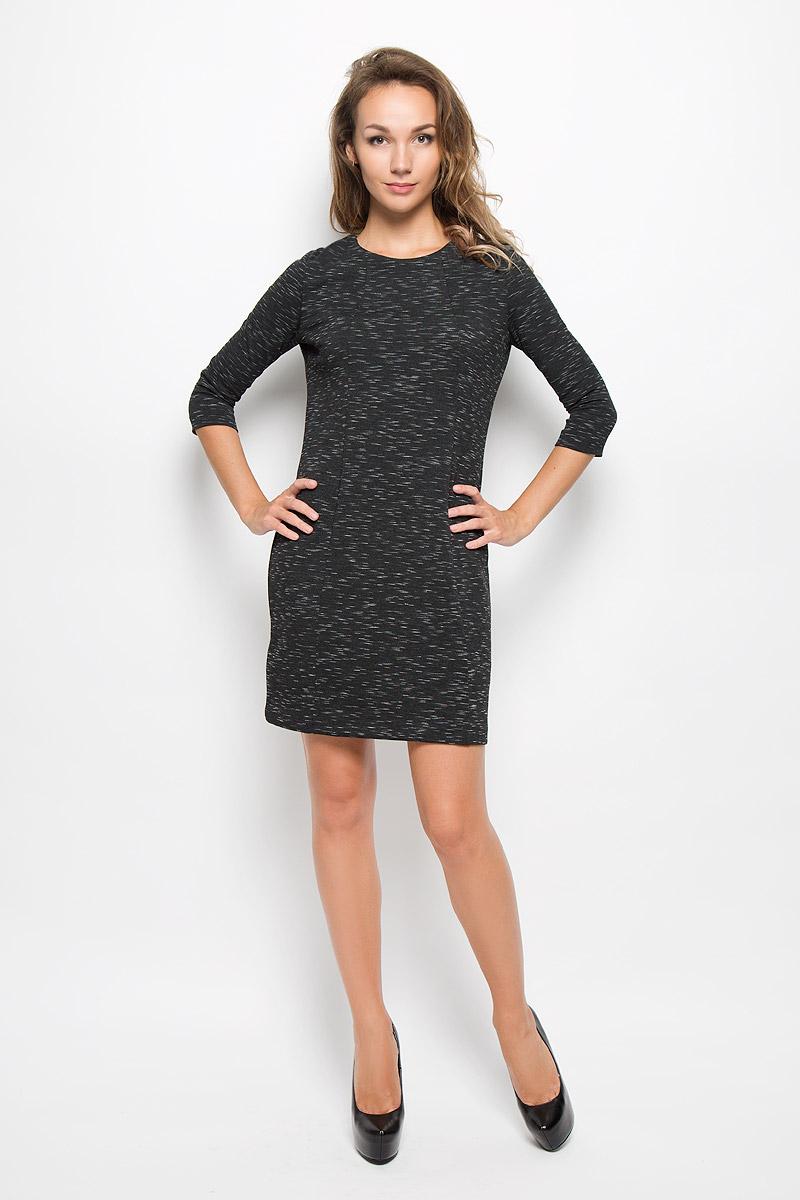 ПлатьеDK-117/201-6342Элегантное платье Sela выполнено из высококачественного хлопка с добавлением полиэстера. Такое платье обеспечит вам комфорт и удобство при носке и непременно вызовет восхищение у окружающих. Модель средней длины с рукавами 3/4 и круглым вырезом горловины выгодно подчеркнет все достоинства вашей фигуры. Изделие превосходно тянется и удобно сидит. Изысканное платье-миди создаст обворожительный и неповторимый образ. Это модное и комфортное платье станет превосходным дополнением к вашему гардеробу, оно подарит вам удобство и поможет подчеркнуть ваш вкус и неповторимый стиль.