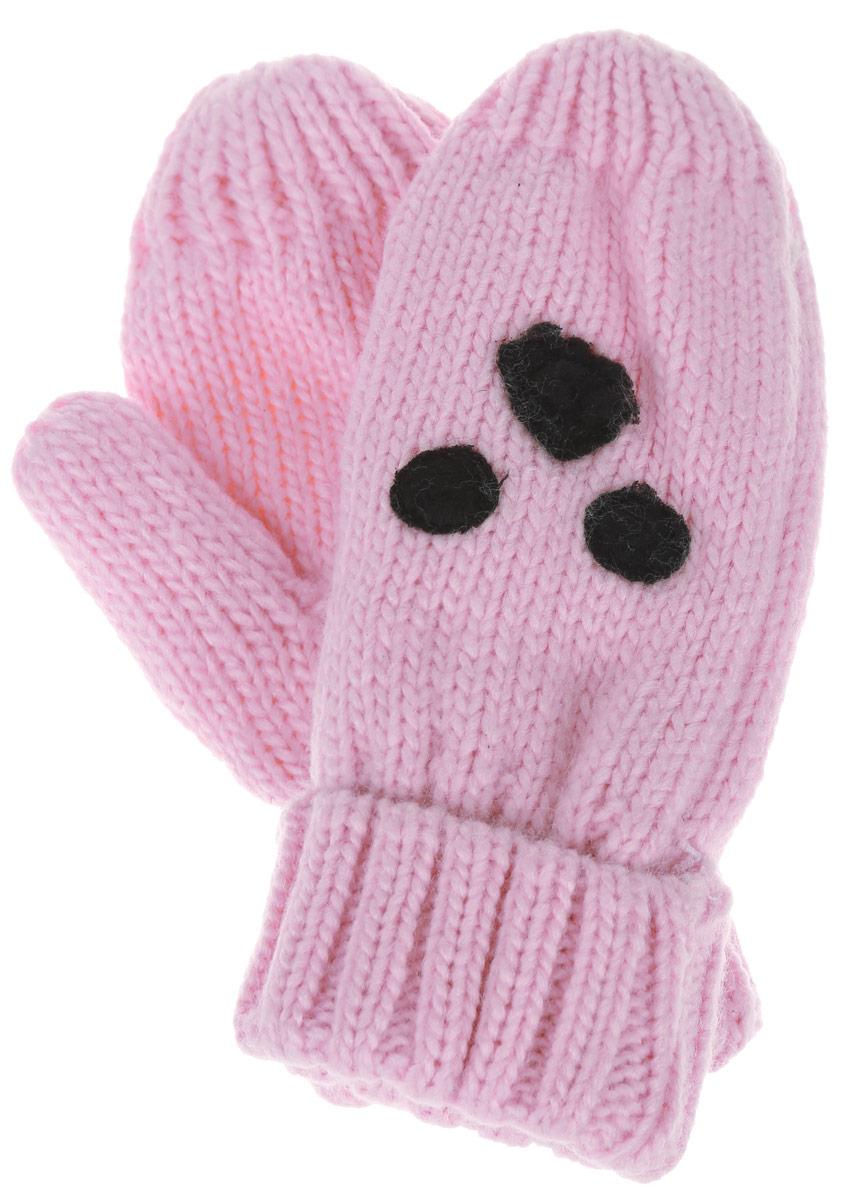 Варежки детскиеGL-543/238AP-6303Вязаные варежки для девочки Sela идеально подойдут вашей маленькой принцессе для прогулок в прохладную погоду. Изготовленные из акрила и полиэстера, они максимально сохраняют тепло, мягкие и приятные на ощупь, идеально сидят на руке. Модель дополнена широкими эластичными манжетами, не стягивающими запястья и надежно фиксирующими их на руках ребенка. Изделие украшено аппликацией. В таких варежках ваш ребенок будет чувствовать себя тепло, уютно и комфортно.