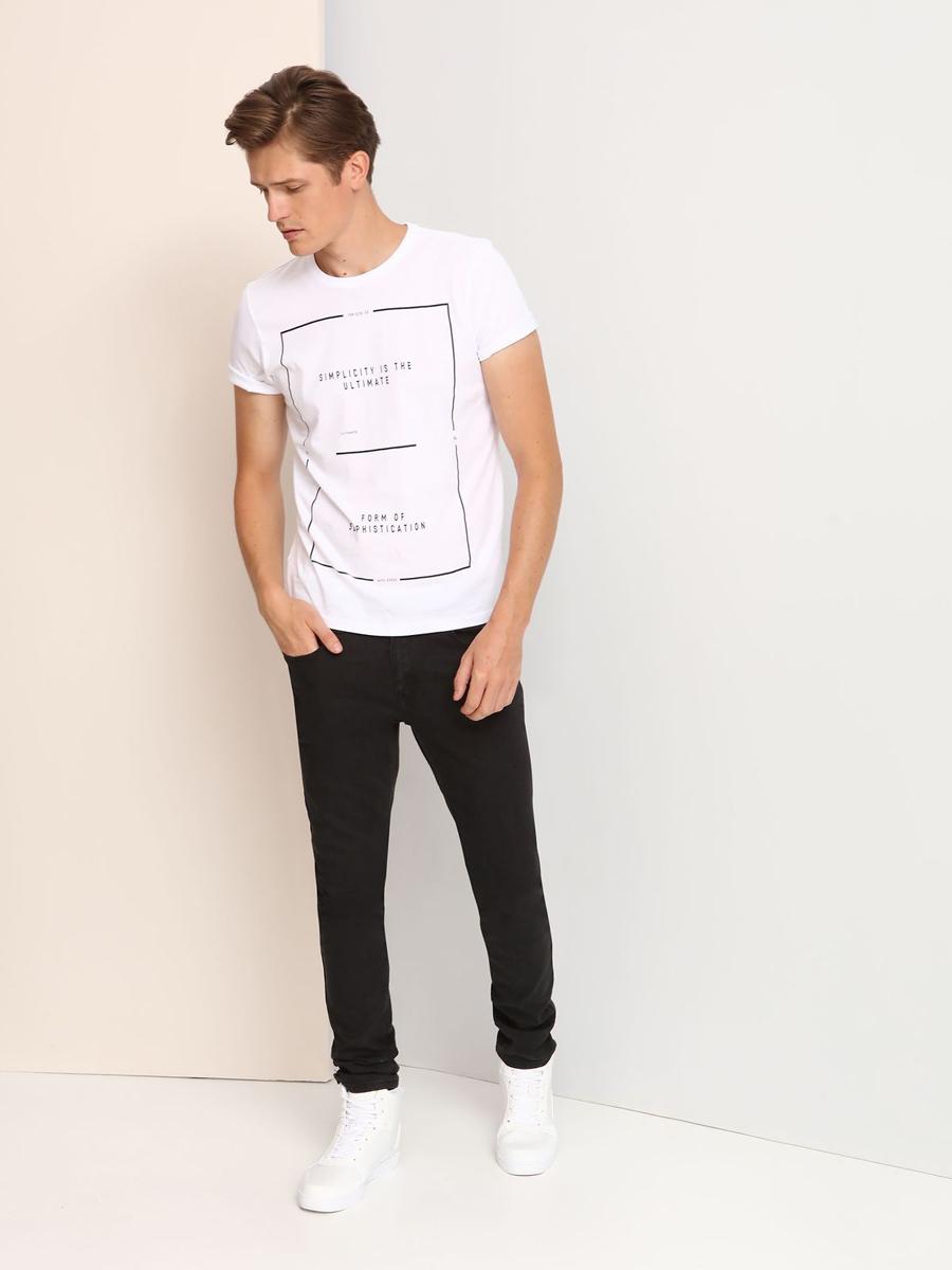 ФутболкаSPO2806BIМужская футболка выполнена из 100% хлопка и оформлена оригинальным принтом. Модель со стандартным коротким рукавом и круглым вырезом горловины.