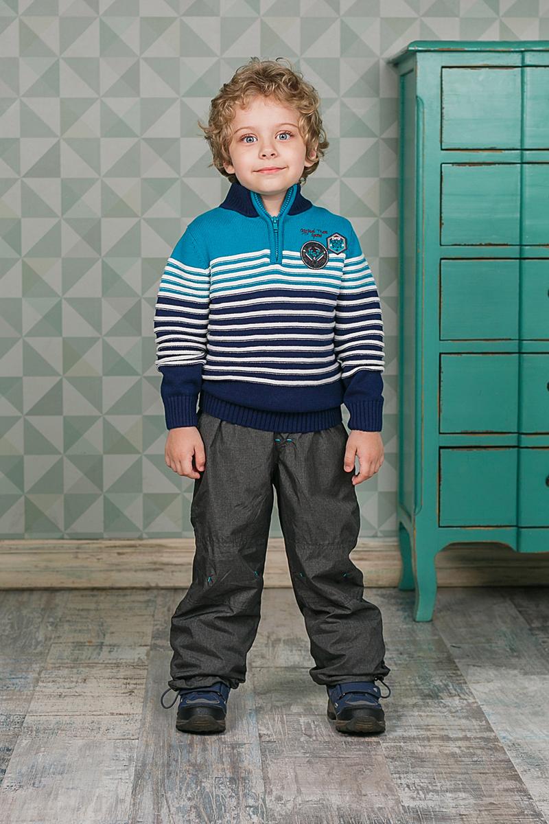 Свитер206305Теплый вязаный свитер Sweet Berry для мальчика идеально подойдет вашему ребенку в прохладные дни. Уютный свитер с длинными рукавами имеет высокий воротник. Сверху застегивается на молнию. Низ рукавов, воротник и низ изделия дополнены вязаной крупной резинкой.