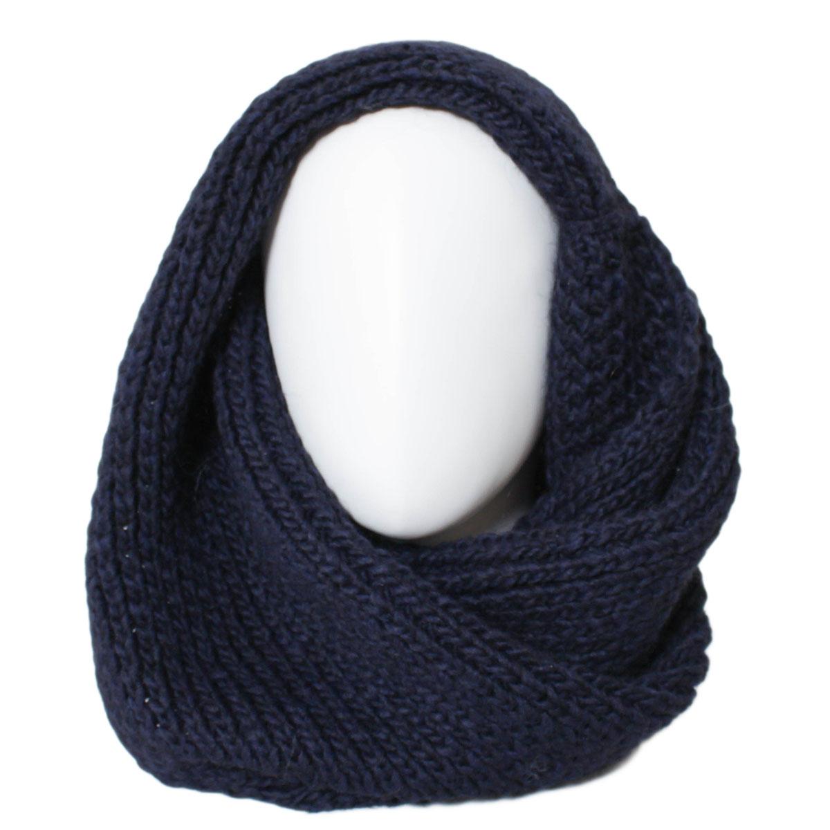 Снуд-хомут женский Flioraj, цвет: черный, синий. 301FJ. Размер 34 х 67 см301FJЖенский вязаный снуд-хомут Flioraj выполнен из овечьей шерсти и шерсти горной альпаки с добавлением полиакрила и вискозы. Модель связана кольцом и имеет крупную плотную вязку и выполнена модным рельефным рисунком.