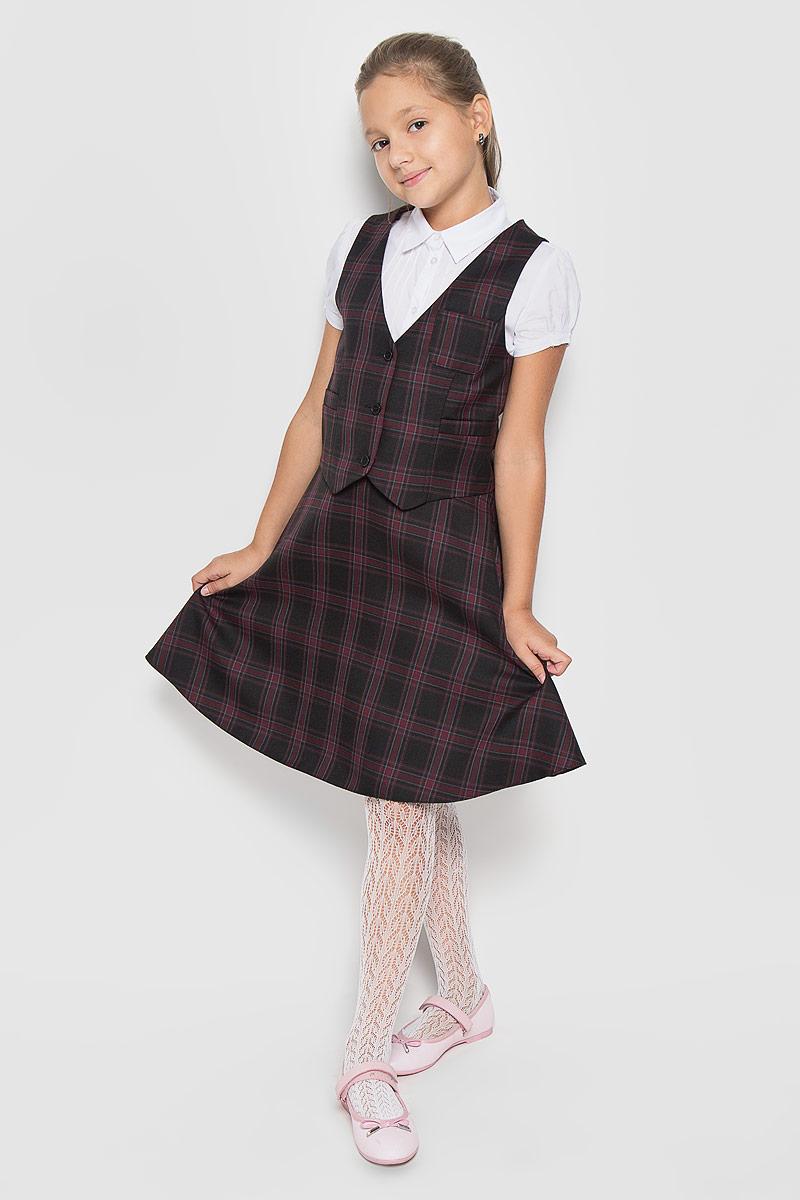 Юбка для девочки BTC, цвет: черный, бордовый. 12.017484. Размер 36-14012.017484Стильная юбка для девочки BTC идеально подойдет вашей маленькой принцессе. Изготовленная из полиэстра с добавлением шерсти, она необычайно мягкая и приятная на ощупь, не сковывает движения малышки и позволяет коже дышать, не раздражает даже самую нежную и чувствительную кожу ребенка, обеспечивая ему наибольший комфорт. Юбка на талии имеет эластичную резинку, благодаря чему она не сдавливает животик ребенка и не сползает. Застегивается на молнию. С внутренней стороны пояс регулируется резинкой на пуговице, также имеются шлевки для ремня. Оригинальный современный дизайн и модная расцветка делают эту юбку модным и стильным предметом детского гардероба. В ней ваша малышка всегда будет в центре внимания!