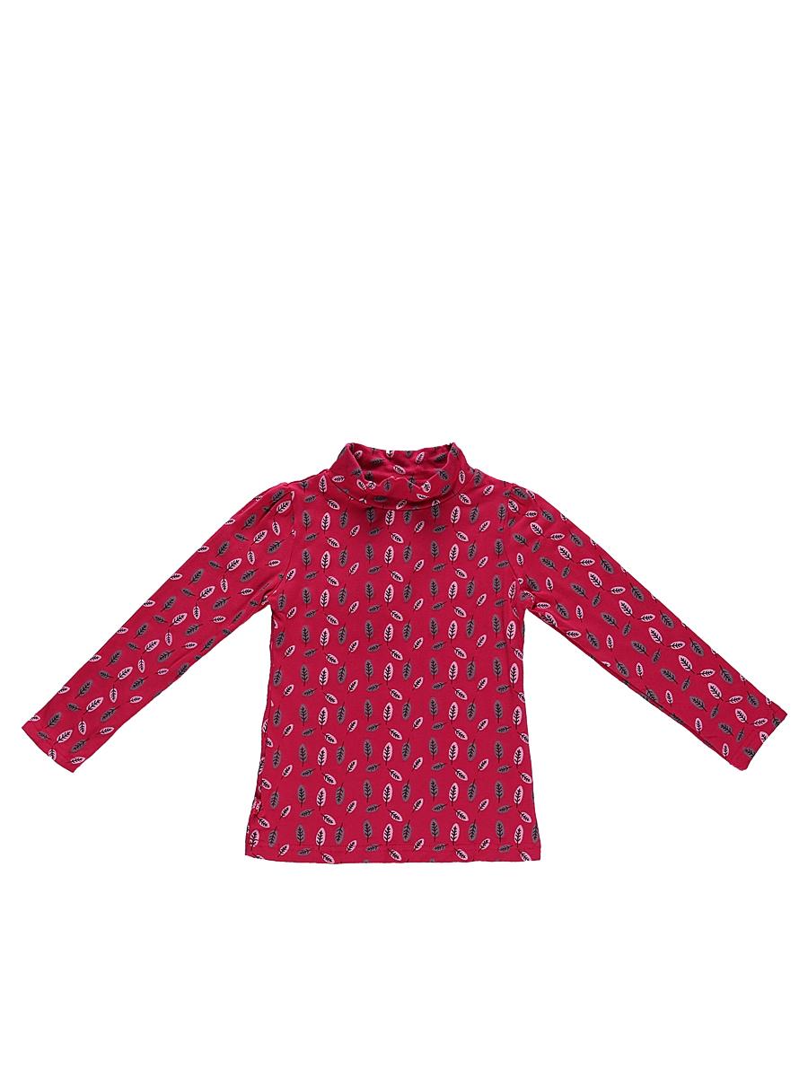 Водолазка205434Водолазка для девочки Sweet Berry изготовлена из хлопка с добавлением эластана и оформлена оригинальным принтом. Высокий воротник надежно защищает от ветра. Базовая модель позволяет создавать стильные образы.
