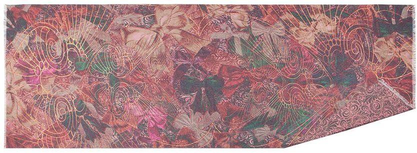 Палантин Eleganzza, цвет: розовый, зеленый, бордовый. FA34-0627. Размер 65 см х 180 смFA34-0627Стильный палантин Eleganzza, изготовленный из шелка и вискозы, мягкий и приятный на ощупь.Изделие оформлено оригинальным принтом. По короткому краю модель оформлена бахромой.