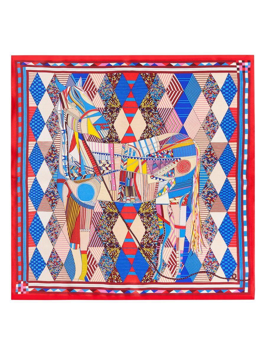 Платок женский Eleganzza, цвет: красный, мультиколор. SS03-7858. Размер 53 см х 53 смSS03-7858Женский платок Eleganzza, изготовленный из шелка, мягкий и приятный на ощупь.Изделие оформлено оригинальным принтом.