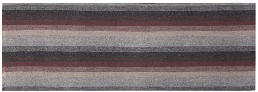 ШарфLJG33-372Мужской шарф Labbra, изготовленный из шерсти и вискозы, мягкий и приятный на ощупь. Изделие оформлено принтом в полоску. По короткому краю модель оформлена бахромой.