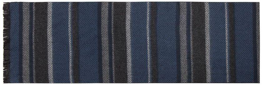 Шарф мужской Labbra, цвет: синий, серый, темно-серый. LJG33-362. Размер 30 см х 180 смLJG33-362Мужской шарф Labbra, изготовленный из шерсти и вискозы, мягкий и приятный на ощупь. Изделие оформлено оригинальным принтом. По короткому краю модель оформлена бахромой.