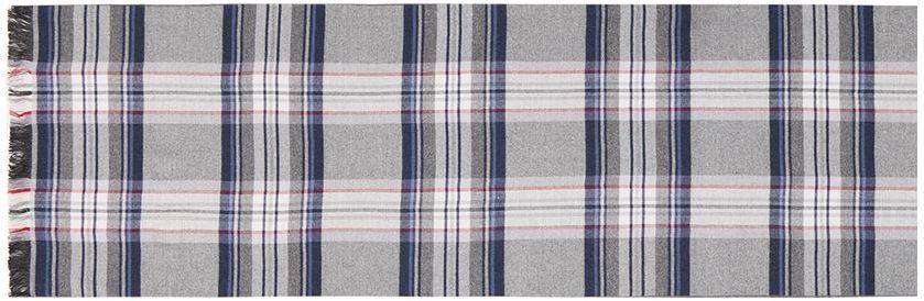 Шарф мужской Labbra, цвет: серый. LJG34-380. Размер 30 см х 180 смLJG34-380Элегантный мужской шарф Labbra согреет вас в холодное время года, а также станет изысканным аксессуаром, который призван подчеркнуть ваш стиль и индивидуальность. Шарф, выполненный из шелка и вискозы, оформлен контрастными полосками и украшен бахромой по короткому краю.